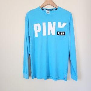 Pink Victoria's Secret blue shirt XS